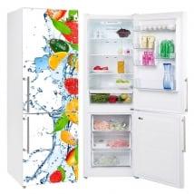 Vinili frigoriferi acqua spruzzata di frutta