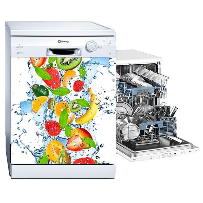 Vinili e adesivi lavastoviglie frutta spruzzi d'acqua