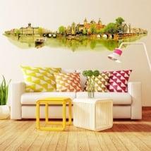 Vinili muri illustrazione dell'acquerello amsterdam