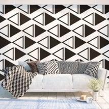 Murali di vinile adesivo triangoli