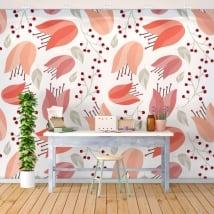 Gigantografie adesivi con fiori per decorare le pareti