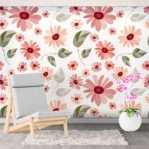 Murali in vinile decorativi con i fiori
