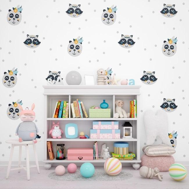 Murales orsi e procioni per bambini o giovani
