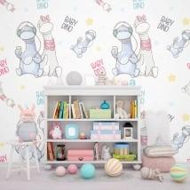 Murales per bambini piccoli dinosauri