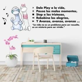 Vinile decorativo frasi di motivazione play alla vita