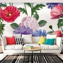 Gigantografie con fiori per pareti e oggetti