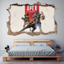 Sticker murale apex legends 3d