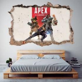 Sticker murale apex legends 3d