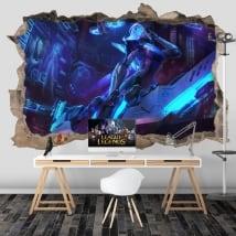 Vinile decorativo videogiochi league of legends 3d