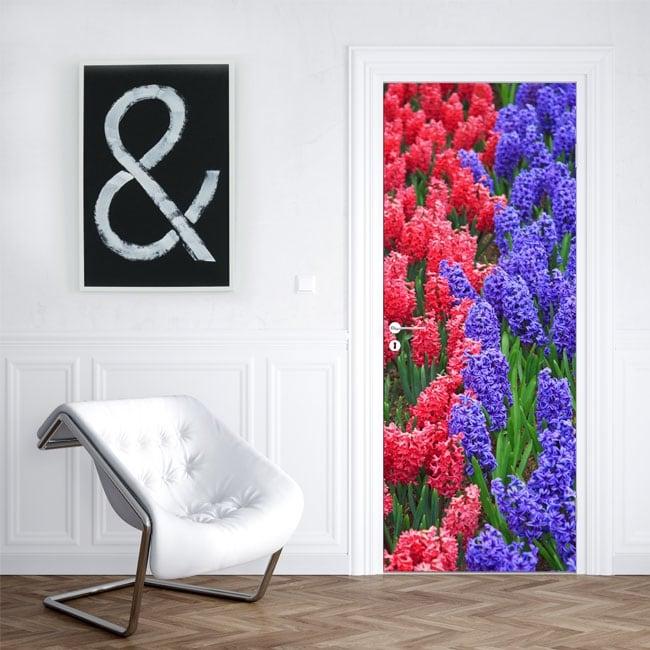 Vinile per porte fiori di giacinto