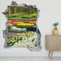 Vinili e adesivi giardino fiori e tulipani 3d
