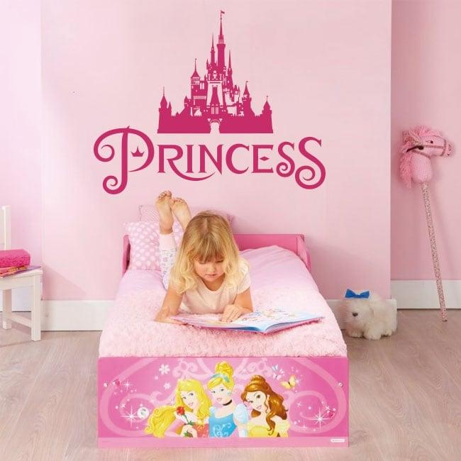 Vinili e adesivi castello principessa disney