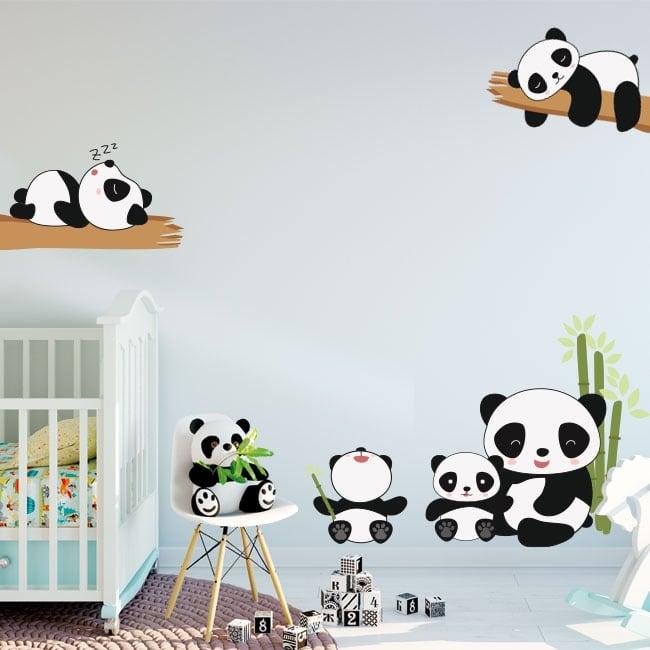 Vinile e adesivi orsi panda per bambini