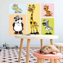 Adesivi in vinile animali da bambini