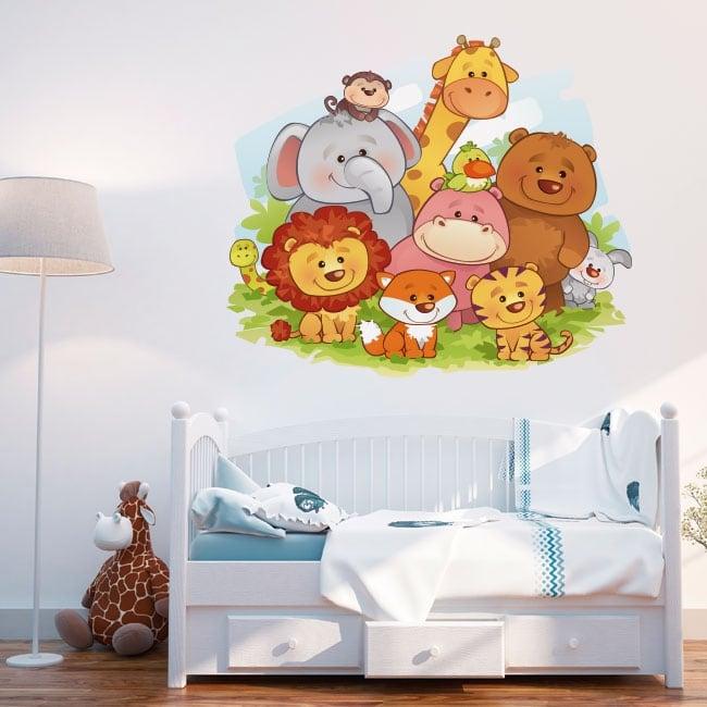 Vinile decorativo animali per bambino