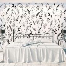 Murales fiori e foglie natura