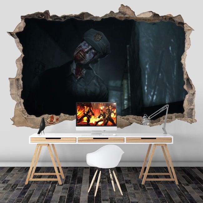 Vinili e adesivi video game resident evil 3d