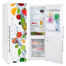 Vinili frigoriferi frutti nell'acqua
