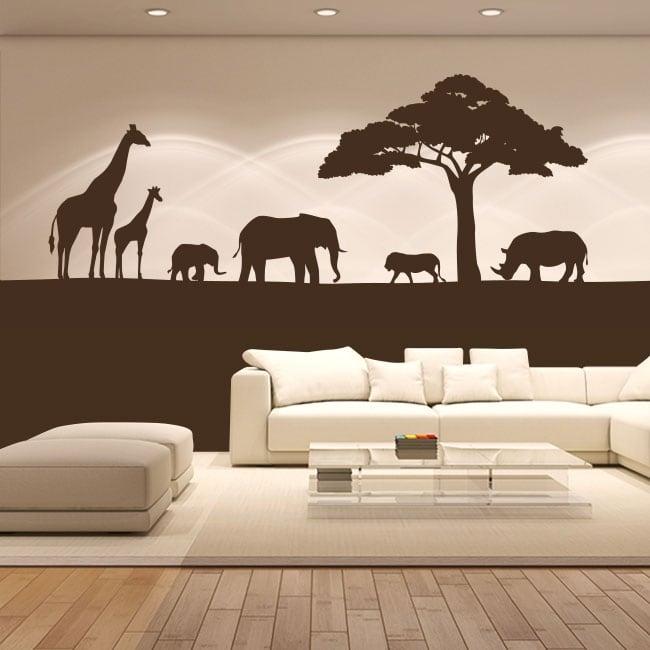 Vinile decorativo animali d'africa