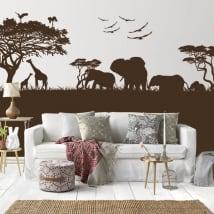 Vinile decorativo e adesivi di animali in africa