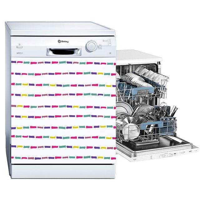 Vinili lavastoviglie tratti colorati