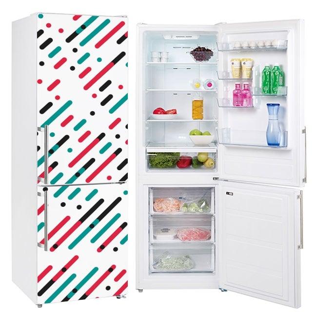Vinili frigoriferi linee e cerchi di colori