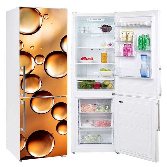 Vinili frigoriferi bolle d'oro