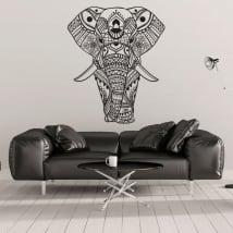Vinili e adesivi elefante tribale
