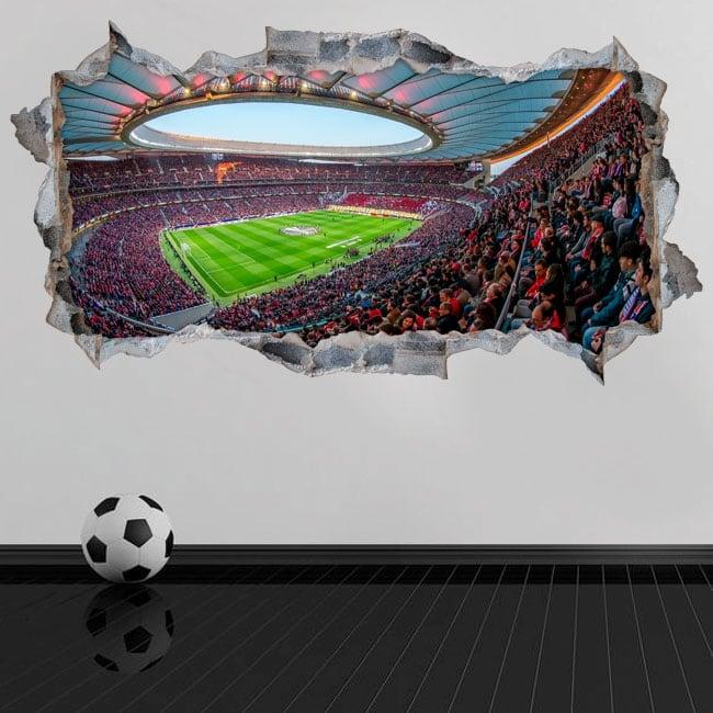 Vinili 3d stadio wanda metropolitano atlético de madrid