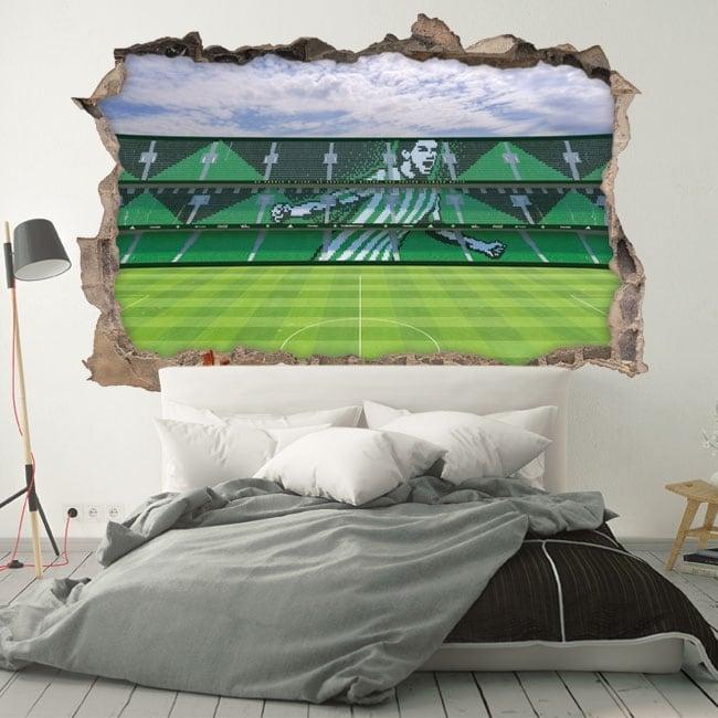 Vinili 3d stadio di calcio benito villamarín real betis balompié