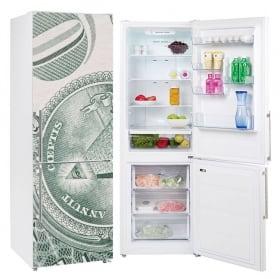 Vinile decorativo frigoriferi dollaro degli stati uniti