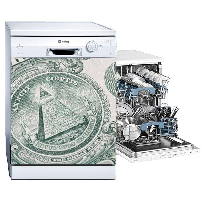 Vinile decorativo lavastoviglie dollaro degli stati uniti