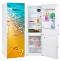 Vinile decorativo frigoriferi stella di mare