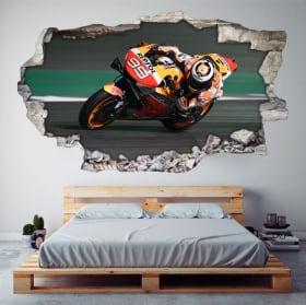 Adesivi 3d motogp jorge lorenzo honda