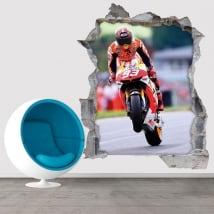 Vinile e adesivi 3d motogp marc márquez honda