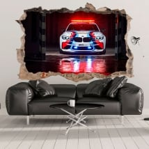 Sticker murale 3d motogp bmw m2 safety car