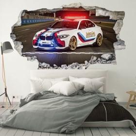 Vinile e adesivi 3d motogp bmw m2 safety car