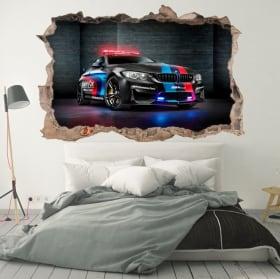 Sticker murale 3d motogp bmw m2 safety car