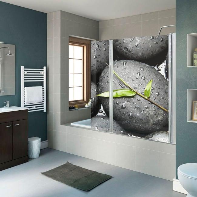 Vinile decorativo schermi del bagno pietre zen