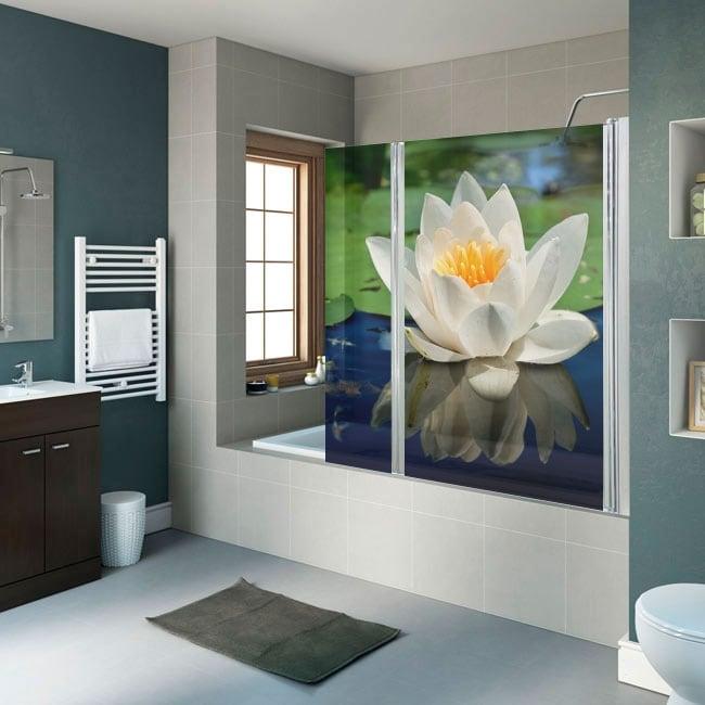 Vinili e adesivi schermi del bagno fiore di loto