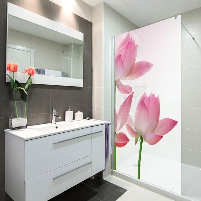 Vinili schermi del bagno fiori di loto