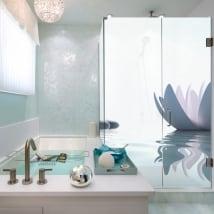 Vinili schermi del bagno stile zen