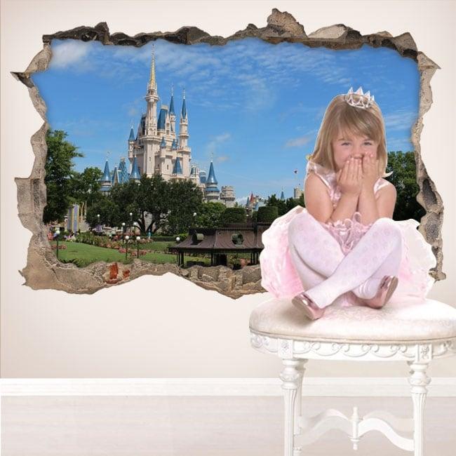 Vinile 3d castello walt disney world