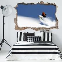Adesivi murali 3d snowboard