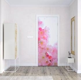Vinile per porte fiore di loto
