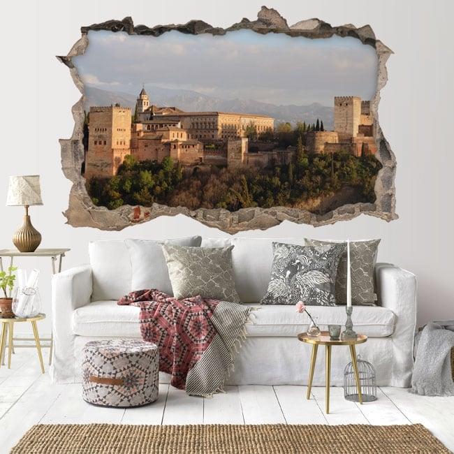 Vinile adesivo 3d l'alhambra di granada in spagna