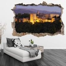 Vinili 3d l'alhambra città di granada in spagna