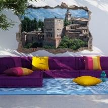 Vinile e adesivi 3d l'alhambra city di granada