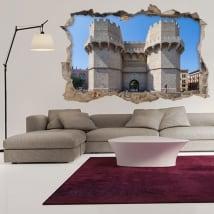 Vinile 3d torri di serranos città di valencia