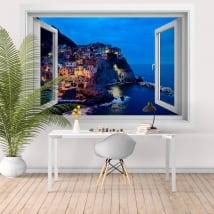Finestre di vinile 3d cinque terre la spezia italia
